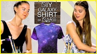 DIY Galaxy Print Shirt?! DI-Dare With NinaAndRanda