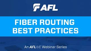 """Our Verizon Global Account Manager presents """"Fiber Routing Best Practices"""""""
