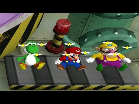 Mario Party 4 MiniGames - Luigi Vs Mario Vs Yoshi Vs Wario (Master