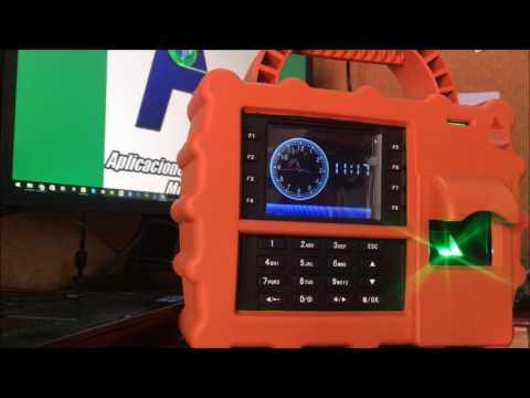 Como registrar huellas digitales en el checador ZK Teco S922