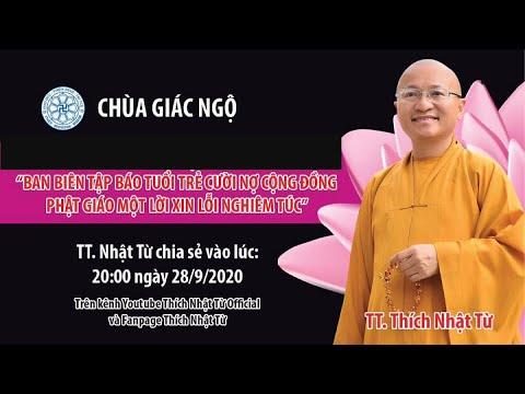 TT. Nhật Từ lên tiếng lần 2 về việc báo Tuổi trẻ cười xúc phạm Phật giáo