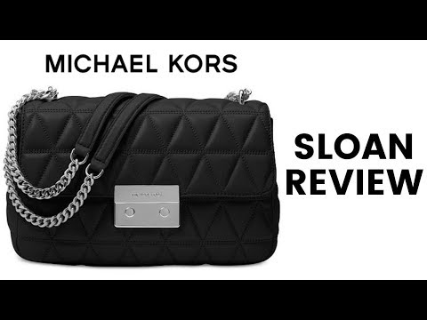 MICHAEL KORS LARGE SLOAN BLACK QUILTED HANDBAG REVIEW