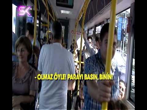 """MEHMET ALİ ERBİL, BELEDİYE OTOBÜSÜNE """"AKBİL""""SİZ SIZINCA ŞOFÖR ÇILDIRDI"""