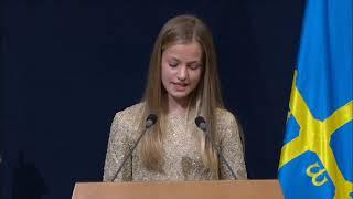 Palabras de Su Alteza Real la Princesa de Asturias en la ceremonia de entrega de los Premios Princesa de Asturias 2020