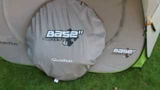 Review and how to errect : quechua 4.2 pop up family tent Самые