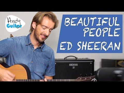 Ed Sheeran - Beautiful People Acoustic Guitar Lesson Tutorial