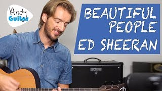 Ed Sheeran   Beautiful People Acoustic Guitar Lesson Tutorial