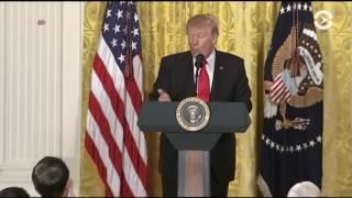 75 минут, которые впечатлили Америку. Дональд Трамп провел срочную пресс-конференцию