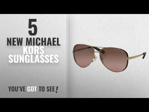 Top 10 Michael Kors Sunglasses [ Winter 2018 ]: Michael Kors MK5004 Chelsea Sunglasses, Gold/Dark
