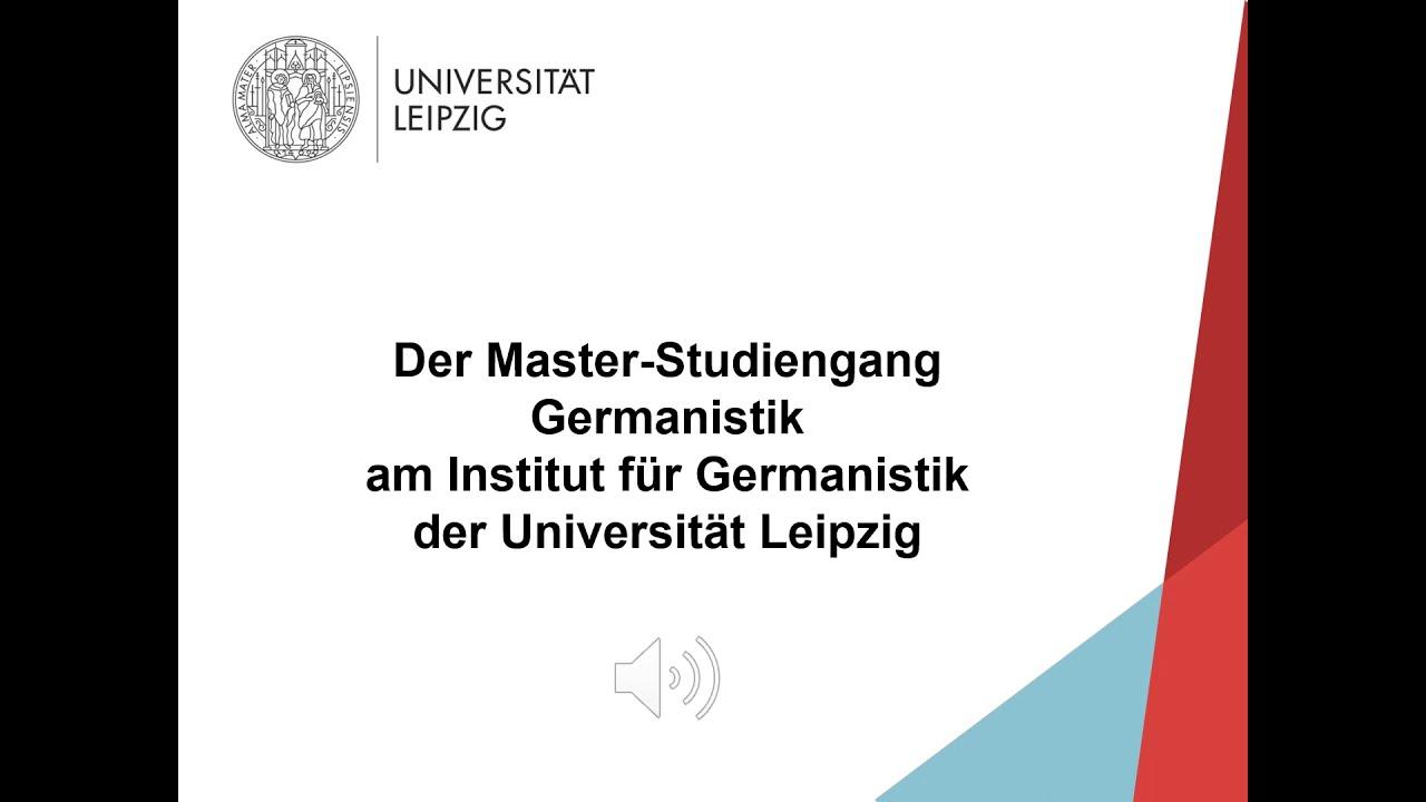 Video: Vorstellung Master Germanistik