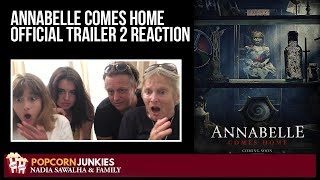 Annabelle Comes Home Official Trailer 2 - Nadia Sawalha & The Popcorn Junkies Family Reaction