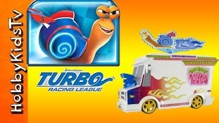 HobbyKids Toy Review! Turbo Snail Toy Lunchtruck +Track -DreamWorks- Review and Play