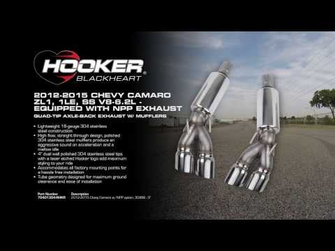 2012 - 2015 Camaro ZL1, 1LE NPP Quad-tip Axle-Back Exhaust System with mufflers