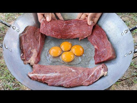 Easy Beef Fried Eggs Recipe / Beef Stir Fry Green Onion