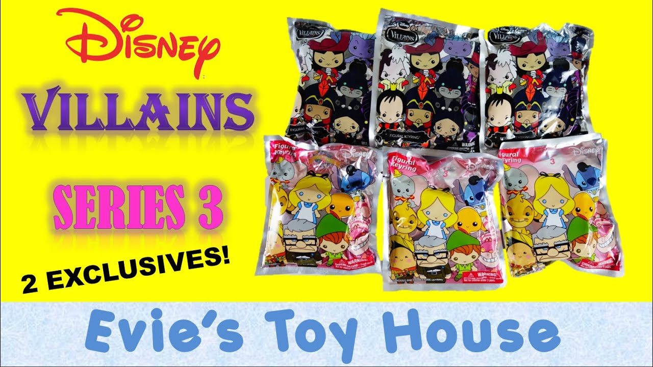 Disney Figural Keyrings -  Disney Series 3 and Disney Villains Blind Bags| Evies Toy House