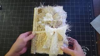 Vintage Shabby Chic Wedding Guest Book/Journal For My Etsy Shop