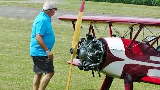 GIANT 55 % SCALE STEARMAN & 86% PITTS PYTHON BIPLANES DISPLAY AT WS & WS MODEL AIRCRAFT SHOW - 2015