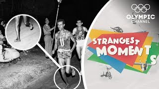 How Bikila won an Olympic Marathon barefoot! | Strangest Moments