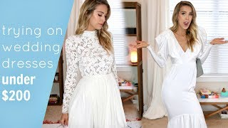TRYING ON 5 AFFORDABLE WEDDING DRESSES | UNDER $200 | LeighAnnSays