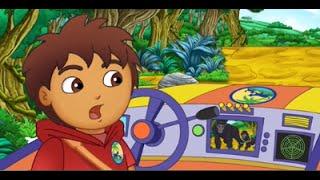 Go Diego Go and Dora the Explorer Rescue a Baby Gorilla in a Video Game walk through