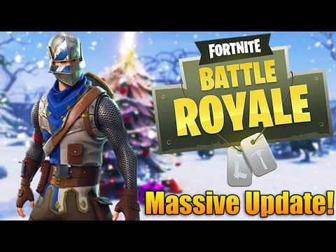 Massive Fortnite Battle Royale Winter Update - NEW SEASON, BATTLE PASS, AND LOOT (Fortnite Gameplay)