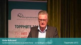 Toppmøte 2015 – Gisle Roksund