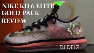 Nike KD 6 VI Elite Gold Pack Shoe Review + On Foot + Comparison With Standard Model