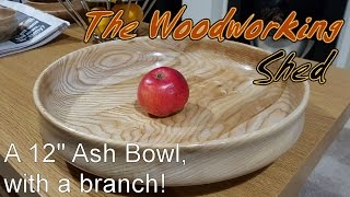 A 12 Inch Ash Bowl With A Branch!