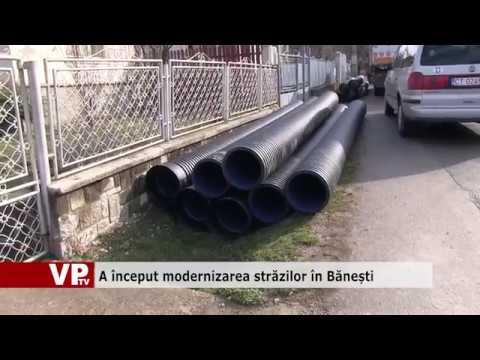 A început modernizarea străzilor în Bănești