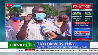Digital taxi drivers hold demonstrations in Nakuru