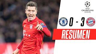 Chelsea fue derrotado por 0-3 por el Bayern Munich en la primera jornada de la fase de octavos de final de la UEFA Champions League. El equipo visitante se lleva una ventaja vital para la vuelta gracias a los dos tantos prácticamente seguidos de Serge Gnabry en la segunda parte, y un tercero de mano de Robert Lewandowski. Mira lo mejor del partido en este resumen de FOX Sports.   #ChampionsxFOX  -SUSCRÍBETE a nuestro canal   http://bit.ly/FOXSportsSur  VISITA nuestro sitio web  http://www.foxsportsla.com  SÍGUENOS en nuestras redes   - FACEBOOK: https://www.facebook.com/foxsportsla/ - TWITTER: https://twitter.com/FOXSportsArg - INSTAGRAM: https://www.instagram.com/foxsportsarg/