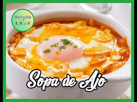 SOPA DE AJO ... Súper Rica...!!! - Cocinando con Dolly en 1, 2 por 3