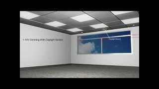 LED Office Lighting Smart Area Panel  40w,46w,65w, Dali Controls