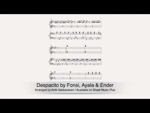 Despacito -  Piano, 4 Hands