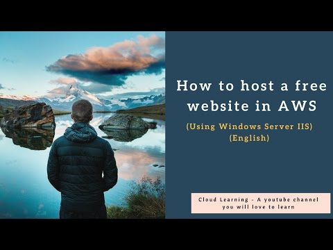 How to host a free website in AWS (Windows Server IIS) English