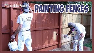 How To Paint A Fence / Make An Ugly Fence Look New