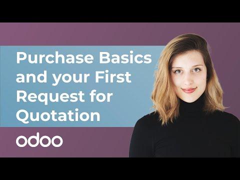 Einkaufsgrundlagen und Ihre erste Angebotsanfrage   odoo Einkauf