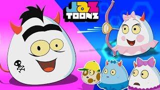 Мультфильм показывает детям | веселые видео | дети показывают | Deviled Eggz | Creepy Capers