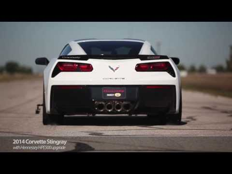 Monster Burnouts in a Hennessey HPE500 Corvette Stingray