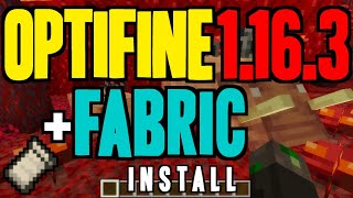 OPTIFINE 1.16.3 minecraft - how to download & install Optifine 1.16.3 (with Fabric on Windows)