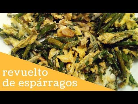 REVUELTO DE ESPÁRRAGOS TRIGUEROS Y HUEVO - Recetas de cocina fáciles y económicas