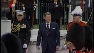 President Reagan's Arrival at Kensington Palace, London, England on June 4, 1984