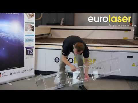 Acrylic brochure display stand | Laser cutting