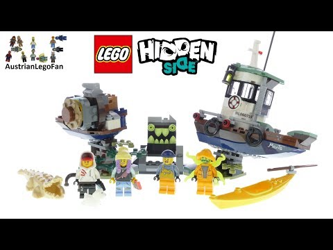 Lego Hidden Side 70419 Wrecked Shrimp Boat - Lego Speed Build Review