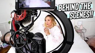 behind the scenes of being a youtuber!!