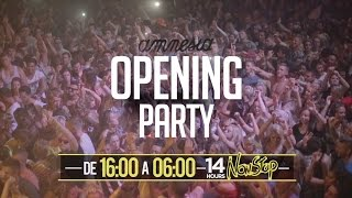 Line Up Opening Party  Amnesia Ibiza 2016