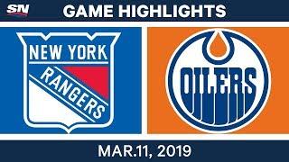 NHL Highlights | Rangers Vs. Oilers – Mar 11, 2019