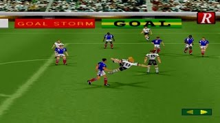 Goal Storm '97 Gameplay Exhibition Match (Playstation,PSX)