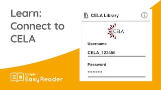 How do I connect CELA to EasyReader? - EasyReader App Tutorial