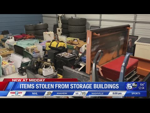 Authorities recover items from Knoxville storage unit burglaries, ask for help to identify owners